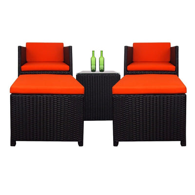 This is a product image of Splendor Armchair Set Orange Cushions. It can be used as an Outdoor Furniture.