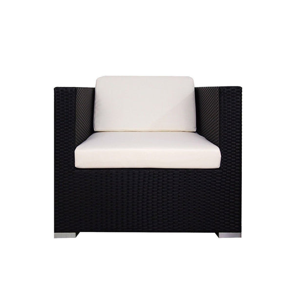 This is a product image of Summer Modular Sofa Set II White Cushion. It can be used as an Outdoor Furniture.