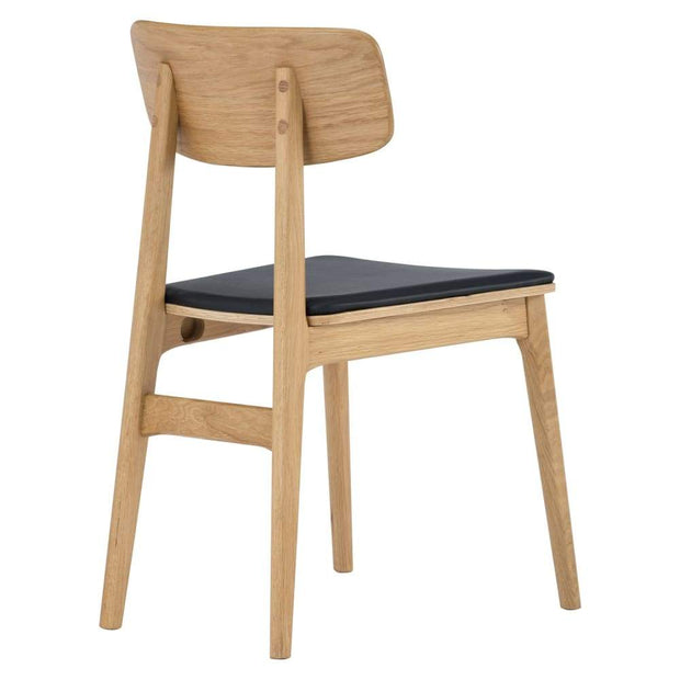 Tacy Dining Chair in Oak Espresso Colour Seat Set of 2