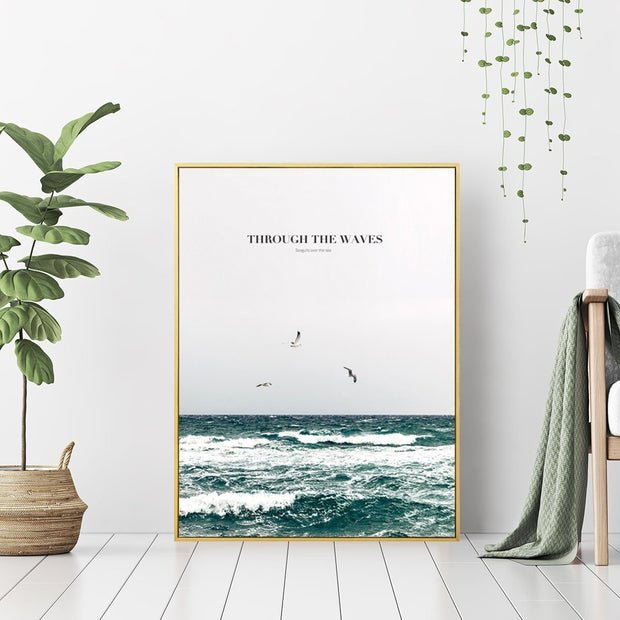 Through the Waves - Wall Art Print with Frame