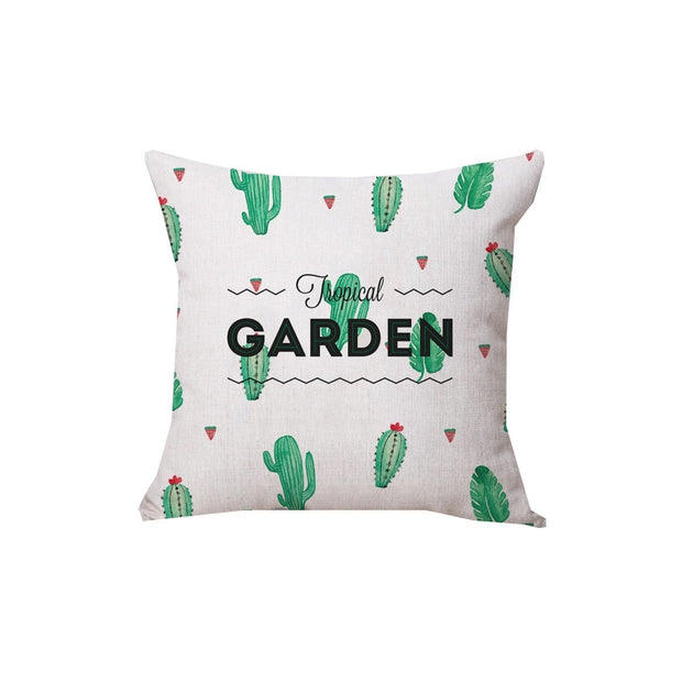 This is a product image of Tropical Garden Cushion. It can be used as an Home Accessories.