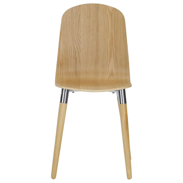 This is a product image of Vesta Dining Chair Oak Veneer Set of 2. It can be used as an.