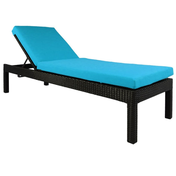 This is a product image of Wikiki Sunbed Blue Cushion. It can be used as an Outdoor Furniture.