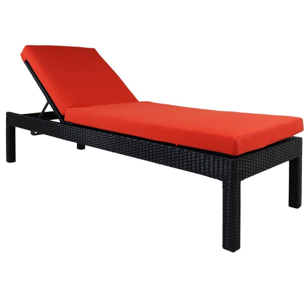 This is a product image of Wikiki Sunbed Orange Cushion. It can be used as an Outdoor Furniture.