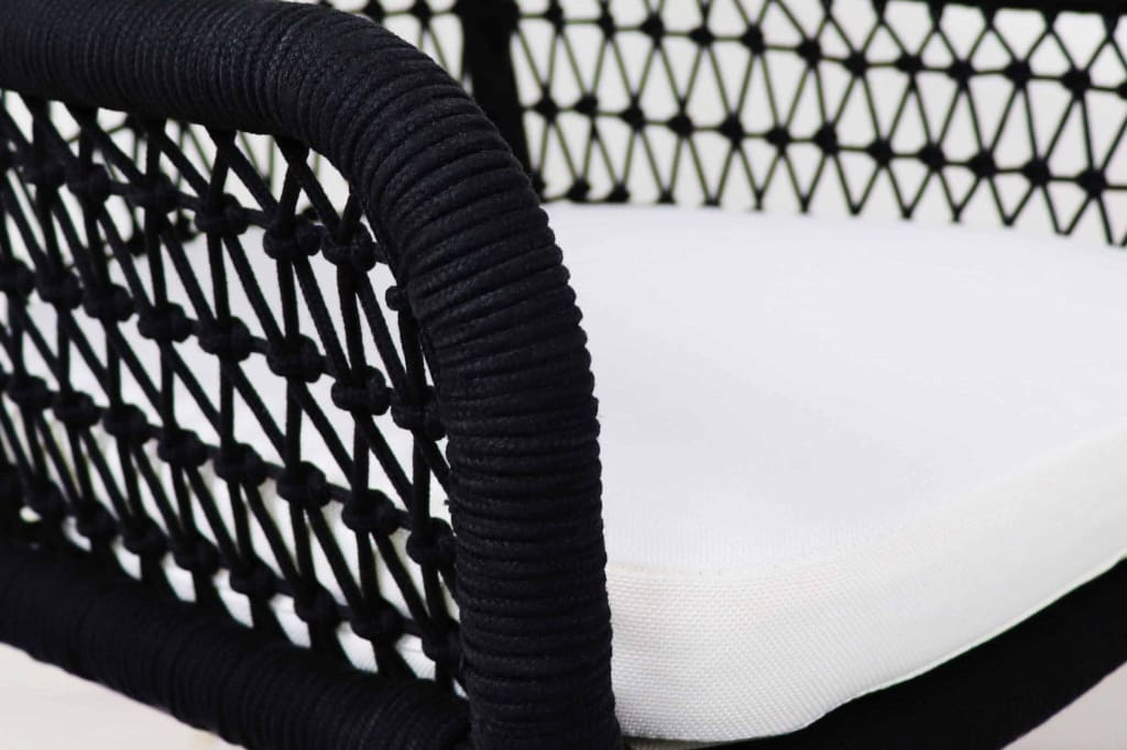 Bonito Outdoor 1 Seater Lounger Set in White Cushion