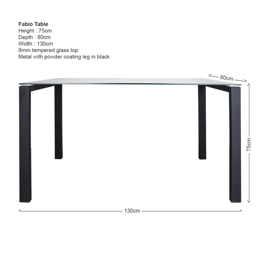 Fabio Dining Table+4 Occa Dining Chair (OPEN BOX)