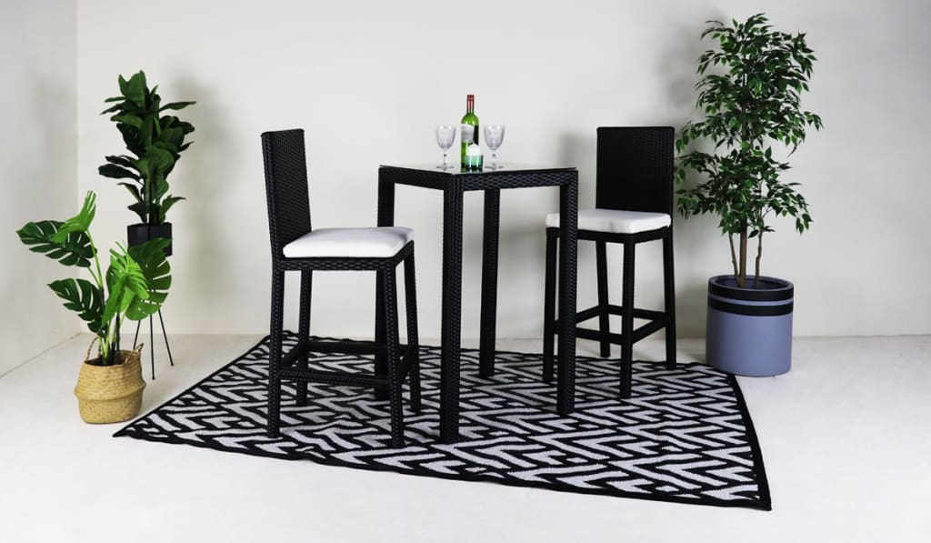 Patio Bar Set With 2 Chairs