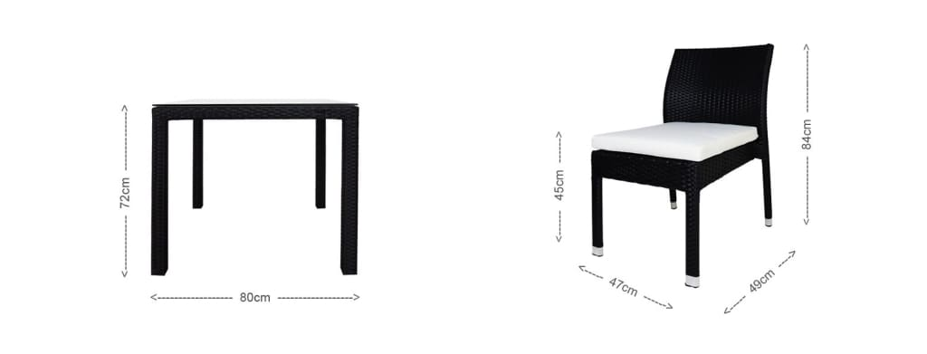 table and chair for outdoor