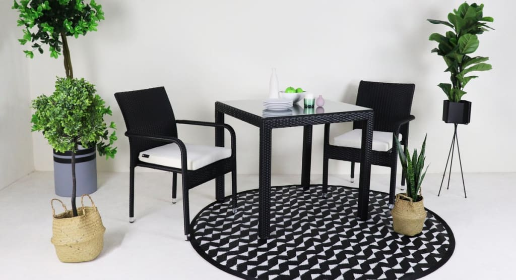garden furniture 2 chair dining set