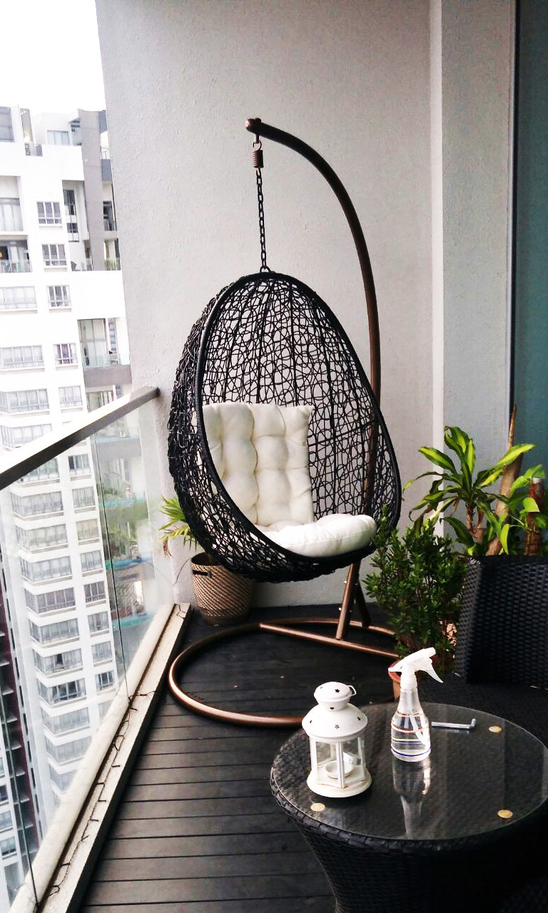swing chair in balcony
