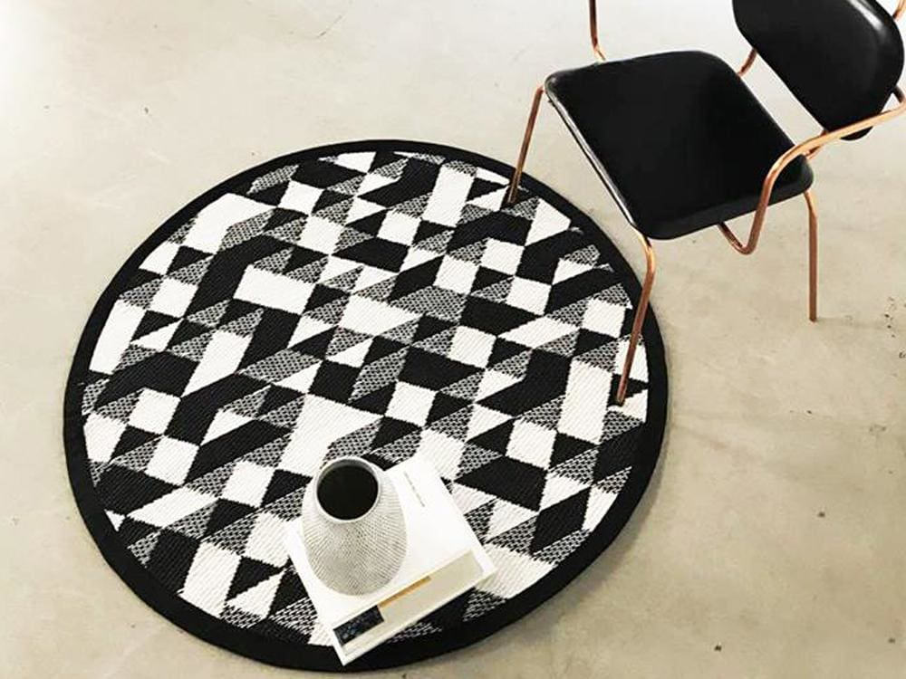 Diamond Outdoor Mat - Round Mini