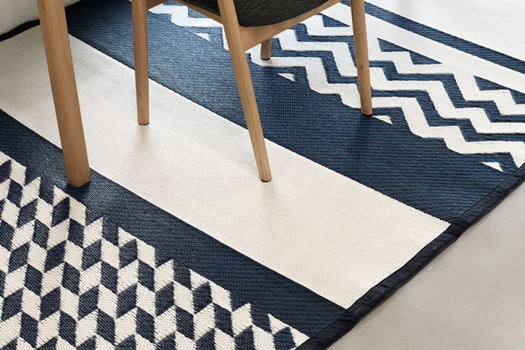 Katve Indigo Outdoor Mat - Medium Size