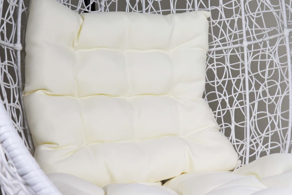 White Cocoon Swing Chair White Cushion