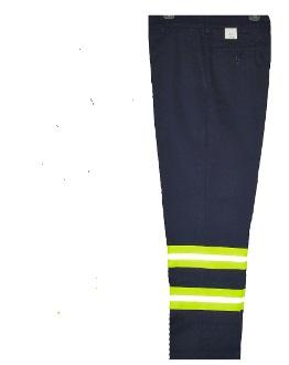 Enhanced Visibility Cargo Work Pants NAVY w/Yellow Stripe 941GPD