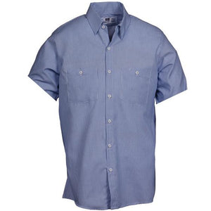 Reed SoftTouch Indurstrial Work Shirt Blue/White Oxford 371