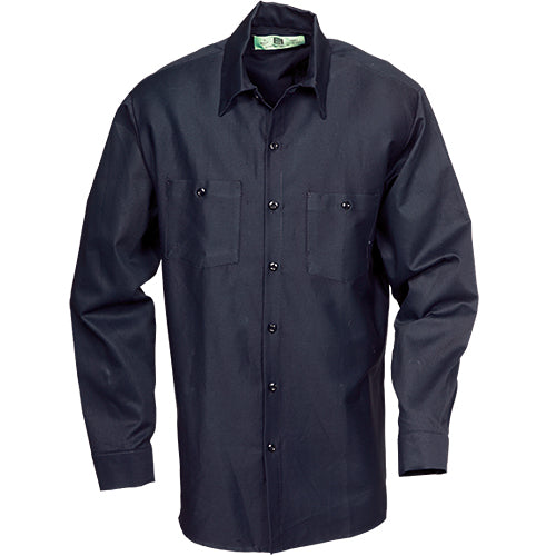 100%  COTTON INDUSTRIAL LONG SLEEVE WORK SHIRT MIDNIGHT NAVY 5221