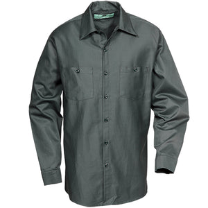 100%  COTTON INDUSTRIAL LONG SLEEVE WORK SHIRT SPRUCE 5887