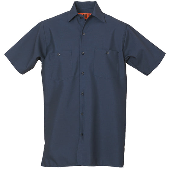 REED SOFT TOUCH POPLIN WORK SHIRT SHORT SLEEVE NAVY SS621
