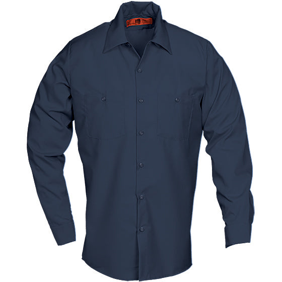Reed SoftTouch POPLIN WORK SHIRT LONG SLEEVE NAVY LS6221