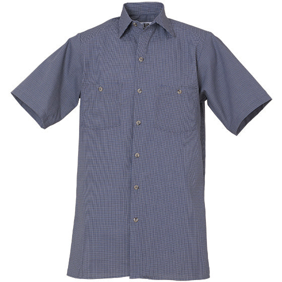 REED SOFT TOUCH MICRO CHECK WORK SHIRT SHORT SLEEVE