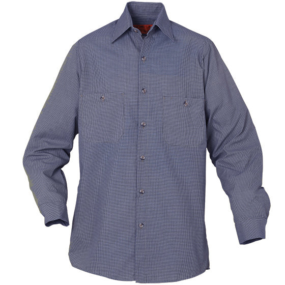 REED SOFT TOUCH MICRO CHECK WORK SHIRT LONG SLEEVE