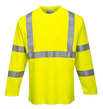 PORTWEST® FR Hi-Vis Long Sleeve T Shirt FR96