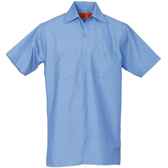 REED SOFT TOUCH POPLIN WORK SHIRT SHORT SLEEVE LIGHT BLUE SS623
