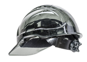 PEAK VIEW RACHET TRANSLUCENT HARD HAT NON VENTED PV64