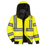 Portwest® HI-Viz Reverssable Bomber Jacket UH449