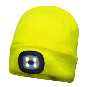 PORTWEST® RECHARGEABLE LED HEADLIGHT BEANIE B029