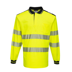 PORTWET®  HI VIS LONG SLEEVE POLO SHIRT T184