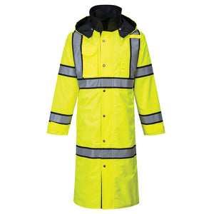 "PORTWEST® HI-VIS REVERSIBLE RAIN COAT 48"" UH447"