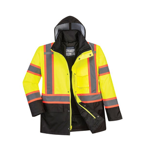 PORTWEST® HI-VIS CONTRAST TAPE TRAFFIC INSULATED JACKET US369