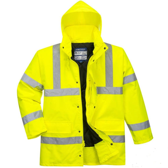 PORTWEST Hi Viz TRAFFIC JACKET CLASS III US460