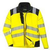 Portwest Hi Vis Soft Shell Rain Jacket T402