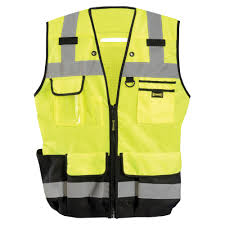 Heavy Duty Surveyors Vest LUX-HDSBK