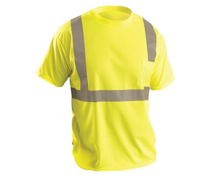 WICKING BIRDSEYE T SHIRT YELLOW OR  ORANGE W/POCKET LUX-SSETP2B
