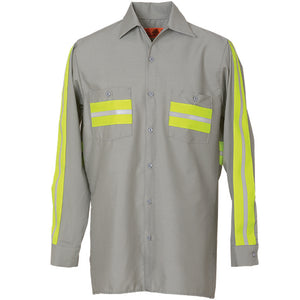 ENHANCED VISIBILITY LONG SLEEVE LT GREY W/YELLOW 6234WM