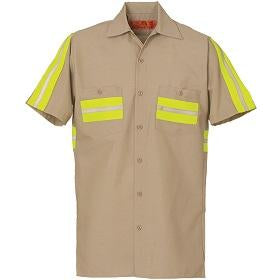 ENHANCED  VISIBILITY SHORT SLEEVE TAN W/YELLOW 639WM