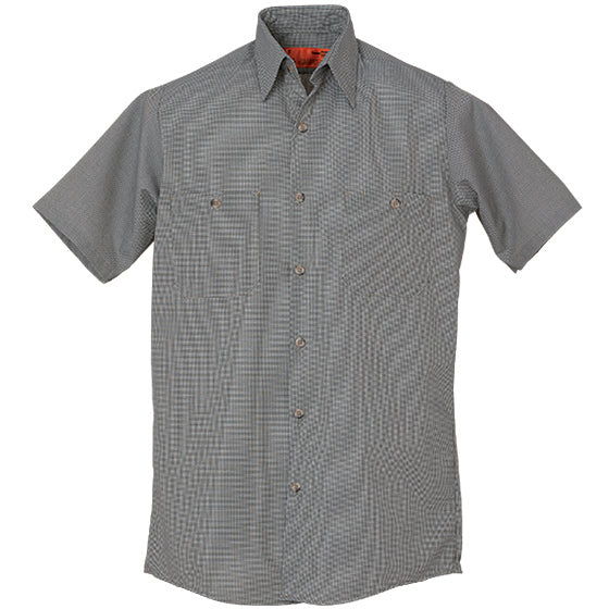 REED SOFT TOUCH MICRO CHECK WORK SHIRT SHORT SLEEVE 679