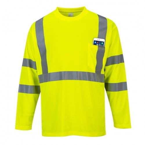 HI-VIS Long Sleeve Pocket T-Shirt CLASS 3 S191