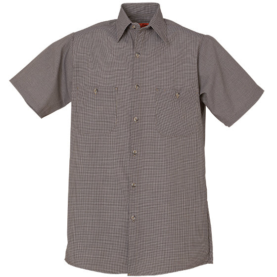 REED SOFT TOUCH MICRO CHECK WORK SHIRT SHORT SLEEVE 689