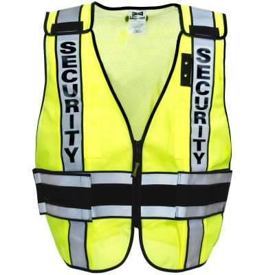 Solid front/mesh back VEST DOR treated SECURITY LUX-DPSSE-DOR