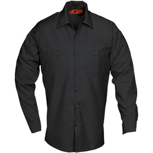 Reed SoftTouch POPLIN WORK SHIRT LONG SLEEVE BLACK LS240