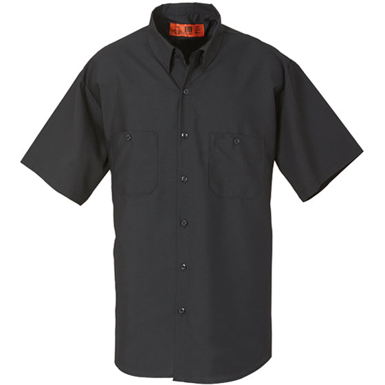 REED SOFT TOUCH POPLIN WORK SHIRT SHORT SLEEVE BLACK SS640