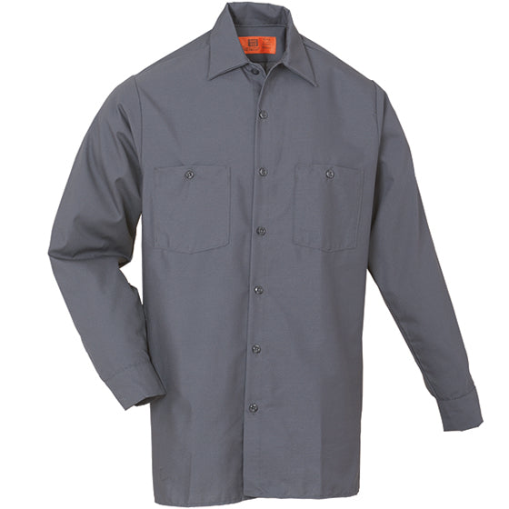 Reed SoftTouch POPLIN WORK SHIRT LONG SLEEVE CHARCOAL LS6254