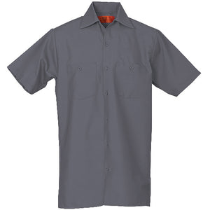 REED SOFT TOUCH POPLIN WORK SHIRT SHORT SLEEVE CHARCOAL SS654