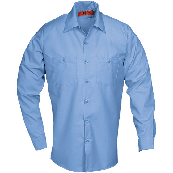Reed SoftTouch POPLIN WORK SHIRT LONG SLEEVE LIGHT BLUE LS6223