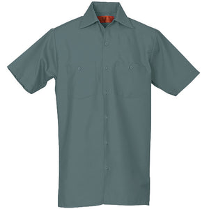 REED SOFT TOUCH POPLIN WORK SHIRT SHORT SLEEVE LIGHT GREEN