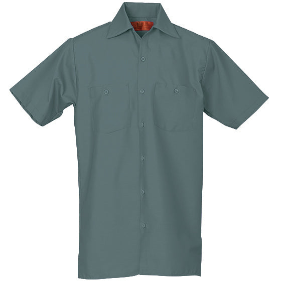 REED SOFT TOUCH POPLIN WORK SHIRT SHORT SLEEVE LIGHT GREEN SS28